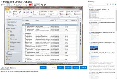Microsoft Office Outlook - Flamory bookmarks and screenshots